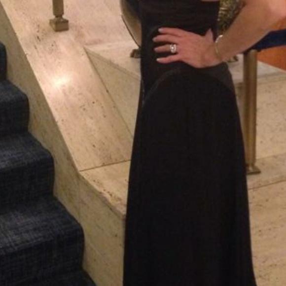 BCBGMaxAzria Dresses & Skirts - BCBG BLACK HALTER GOWN